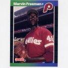 1989 Donruss Baseball #631 Marvin Freeman - Philadelphia Phillies