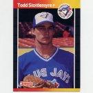 1989 Donruss Baseball #620 Todd Stottlemyre - Toronto Blue Jays