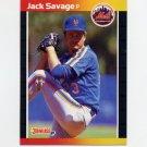 1989 Donruss Baseball #618 Jack Savage - New York Mets