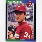 1989 Donruss Baseball #604 Alex Madrid - Philadelphia Phillies