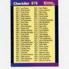 1989 Donruss Baseball #600C Checklist 578-660