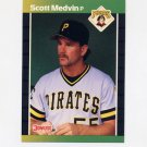 1989 Donruss Baseball #597 Scott Medvin - Pittsburgh Pirates