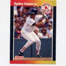 1989 Donruss Baseball #593 Spike Owen - Boston Red Sox