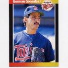 1989 Donruss Baseball #590 German Gonzalez - Minnesota Twins
