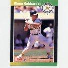 1989 Donruss Baseball #568 Glenn Hubbard - Oakland A's