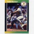 1989 Donruss Baseball #564 Todd Burns - Oakland A's