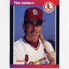 1989 Donruss Baseball #555 Tim Jones - St. Louis Cardinals