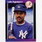1989 Donruss Baseball #551 Luis Aguayo - New York Yankees