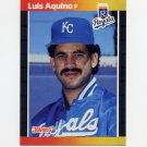 1989 Donruss Baseball #534 Luis Aquino - Kansas City Royals