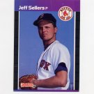 1989 Donruss Baseball #517 Jeff Sellers - Boston Red Sox