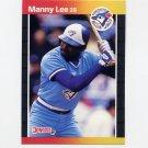 1989 Donruss Baseball #504 Manny Lee - Toronto Blue Jays
