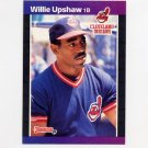 1989 Donruss Baseball #492 Willie Upshaw - Cleveland Indians