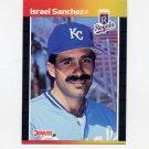 1989 Donruss Baseball #474 Israel Sanchez - Kansas City Royals