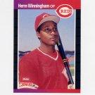 1989 Donruss Baseball #435 Herm Winningham - Cincinnati Reds