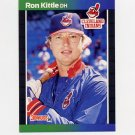 1989 Donruss Baseball #428 Ron Kittle - Cleveland Indians