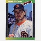 1989 Donruss Baseball #420 Mark Parent - San Diego Padres