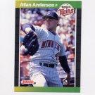 1989 Donruss Baseball #419 Allan Anderson - Minnesota Twins