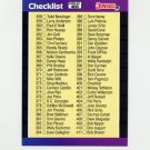1989 Donruss Baseball #400 Checklist 358-467