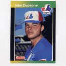 1989 Donruss Baseball #392 John Dopson - Montreal Expos