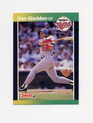 1989 Donruss Baseball #391 Dan Gladden - Minnesota Twins