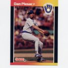 1989 Donruss Baseball #382 Dan Plesac - Milwaukee Brewers
