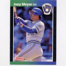 1989 Donruss Baseball #339 Joey Meyer - Milwaukee Brewers