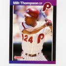 1989 Donruss Baseball #313 Milt Thompson - Philadelphia Phillies