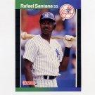 1989 Donruss Baseball #309 Rafael Santana - New York Yankees