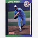 1989 Donruss Baseball #307 David Wells - Toronto Blue Jays