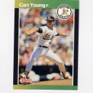 1989 Donruss Baseball #304 Curt Young - Oakland A's