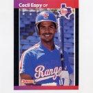 1989 Donruss Baseball #292 Cecil Espy - Texas Rangers