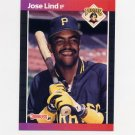 1989 Donruss Baseball #290 Jose Lind - Pittsburgh Pirates