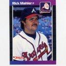 1989 Donruss Baseball #222 Rick Mahler - Atlanta Braves