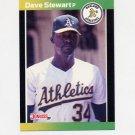 1989 Donruss Baseball #214 Dave Stewart - Oakland A's