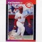 1989 Donruss Baseball #198 Kal Daniels - Cincinnati Reds