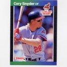 1989 Donruss Baseball #191 Cory Snyder - Cleveland Indians