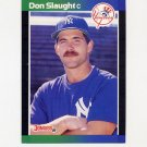 1989 Donruss Baseball #190 Don Slaught - New York Yankees