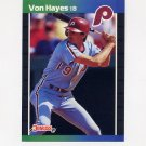 1989 Donruss Baseball #160 Von Hayes - Philadelphia Phillies