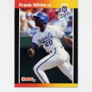 1989 Donruss Baseball #085 Frank White - Kansas City Royals