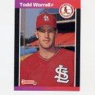 1989 Donruss Baseball #082 Todd Worrell - St. Louis Cardinals