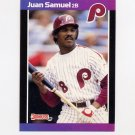 1989 Donruss Baseball #076 Juan Samuel - Philadelphia Phillies