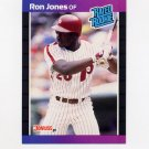 1989 Donruss Baseball #040 Ron Jones Rated Rookie - Philadelphia Phillies