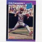 1989 Donruss Baseball #039 Cris Carpenter RC - St. Louis Cardinals