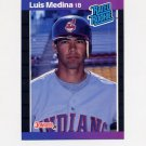 1989 Donruss Baseball #036 Luis Medina Rated Rookie - Cleveland Indians