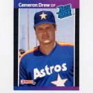 1989 Donruss Baseball #030 Cameron Drew Rated Rookie - Houston Astros