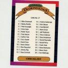 1989 Donruss Baseball #027 Diamond Kings Checklist 1-26