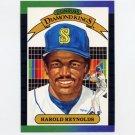 1989 Donruss Baseball #021 Harold Reynolds Diamond Kings - Seattle Mariners