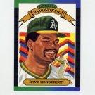 1989 Donruss Baseball #020 Dave Henderson Diamond Kings - Oakland A's