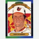 1989 Donruss Baseball #013 Dave Schmidt Diamond Kings - Baltimore Orioles