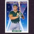 1993 Topps Baseball #807 Troy Neel - Oakland A's